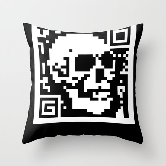 QR- Dead Throw Pillow