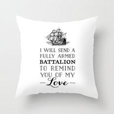 A Fully Armed Battalion Throw Pillow