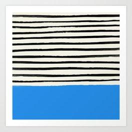 Ocean x Stripes Art Print
