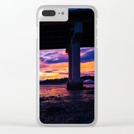 Low Tide Sunset in Casco Bay, Maine Clear iPhone Case