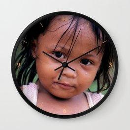 Young Filippino Lady. Wall Clock