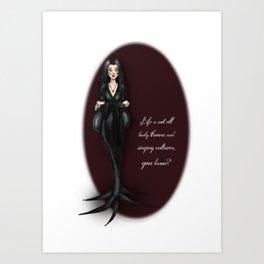 Morticia Art Print