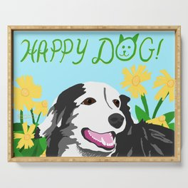 Happy Dog - Sophie the Border Collie Serving Tray