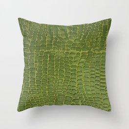 Alligator Skin Throw Pillow