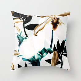 Abstract tropical nature painting I Throw Pillow