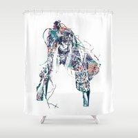 artpop Shower Curtains featuring ARTPOP Tech by Greg21