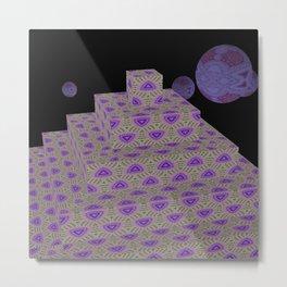 Pyramide Grotesque 7 Metal Print