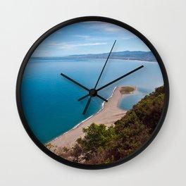 White Lagoon of Tindari on the Isle of Sicily Wall Clock