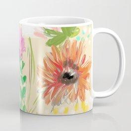 Peach Floral Coffee Mug