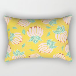 Blush Bloom Peony Lemon Rectangular Pillow