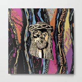 Jesus Piece Coogi Style Metal Print