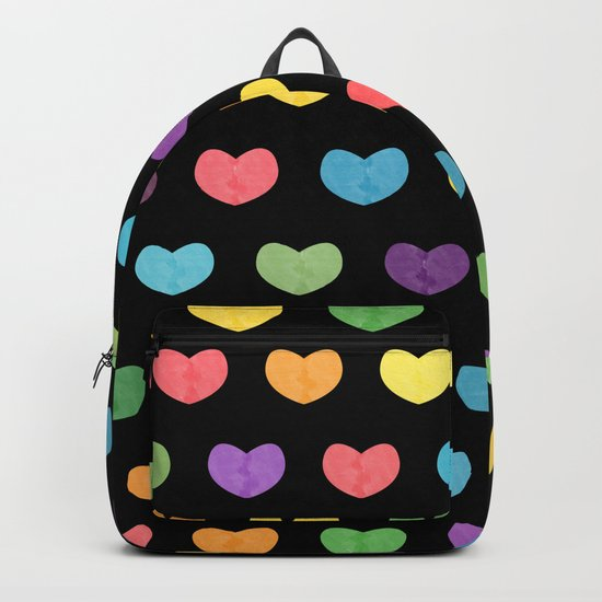 Colorful hearts II Backpack