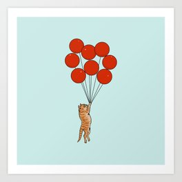 I Believe I Can Fly Cat Art Print