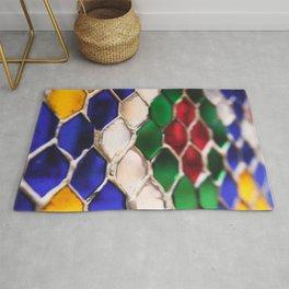 Multi colour wire pattern Rug