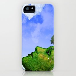 Mother Nature Smiling iPhone Case