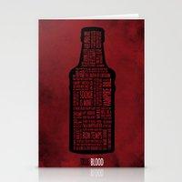 true blood Stationery Cards featuring True Blood by Luke Eckstein