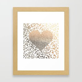 GOLD HEART LEO Framed Art Print