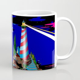 A Night at the Lighthouse with Search Light Active Coffee Mug