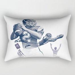 Quarterback throwing a touchdown pass. Rectangular Pillow