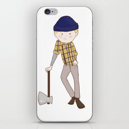 Young Paul Bunyan iPhone Skin