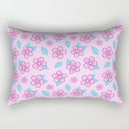 Sakura // Pink Rectangular Pillow