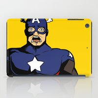 bucky barnes iPad Cases featuring bucky!cap by zombietonbo