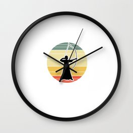 Kyudo Or Kyudo Not There Is No Kyu-Try - Japan Archery Gift Wall Clock