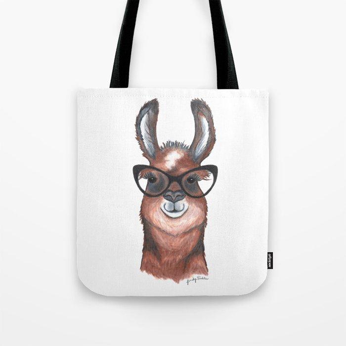 Hipster Llama Tote Bag