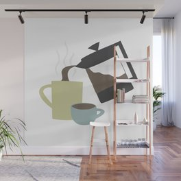 Coffee (French Press) Wall Mural