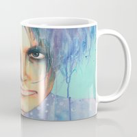 the cure Mugs featuring Pastel Cure by Anne Blondie Bengard