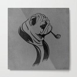 Prim Pug Metal Print