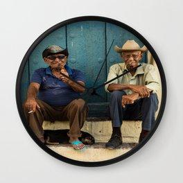 Two old Cuban men Wall Clock