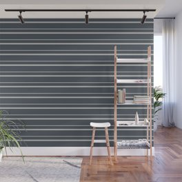 Benjamin Moore 2019 Color of the Year 2019 Metropolitan Light Gray on Hale Navy Blue Gray HC-154 Wall Mural