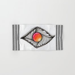 Doodled Gem Sparkle Eye Hand & Bath Towel