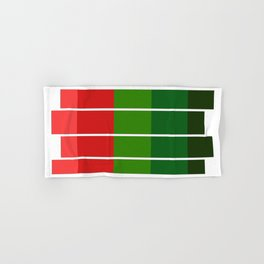 Christmas color bar Hand & Bath Towel