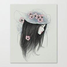 The Girl In The Garden Canvas Print