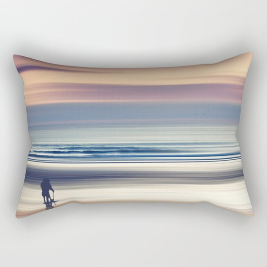 Sharing the Magic - abstract seascape at sunset Rectangular Pillow