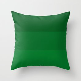 Rich Forest Evergreen Stripes Ombre Throw Pillow