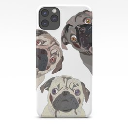 Triple Pugs iPhone Case