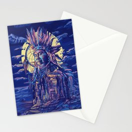 native american portrait 2 Stationery Cards