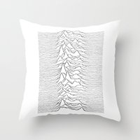 joy division Throw Pillows featuring Joy Division  by Thug