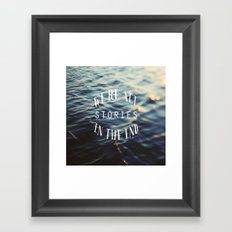 Stories Framed Art Print