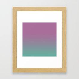 Pink lavender turquoise gradient pattern Framed Art Print