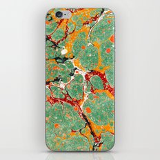 Marbled Green Orange iPhone & iPod Skin