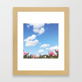 COTTON SKIES Framed Art Print
