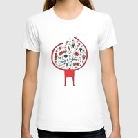holding it all together White MEDIUM Womens Fitted Tee