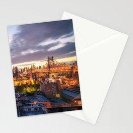 New York City Skyline - Evening Stationery Cards