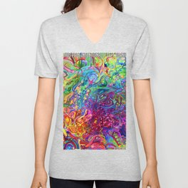 This Page Intentionally Left Blank - Digital Painting Unisex V-Neck