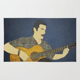 Classical guitar player Rug