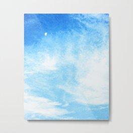 Moon in the Clouds Metal Print